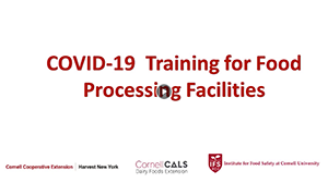 COVID-19 Training for Food Processing Facilities